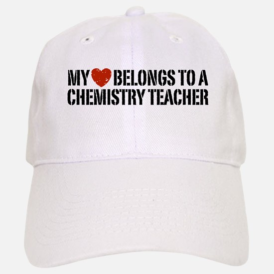 My Heart Chemistry Teacher Baseball Baseball Cap