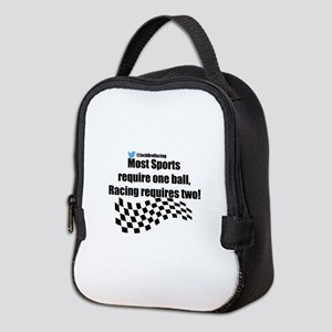 Racing requires two balls Neoprene Lunch Bag