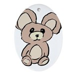 Stuffed Beary Ornament (Oval)