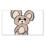Stuffed Beary Sticker (Rectangle 10 pk)