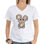 Stuffed Beary Women's V-Neck T-Shirt