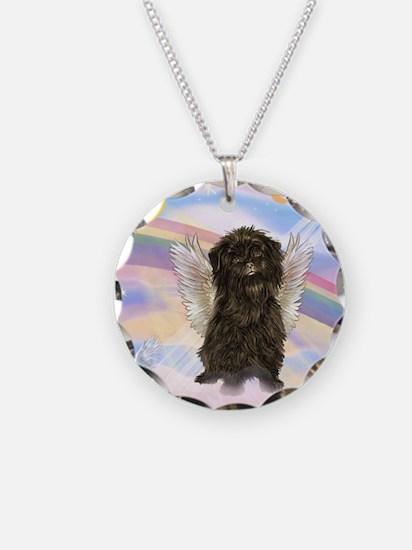 Cloud Angel / Affenpinscher Necklace