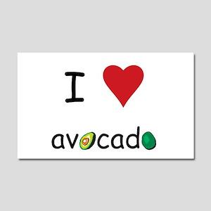 I Love Avocado Car Magnet 20 x 12