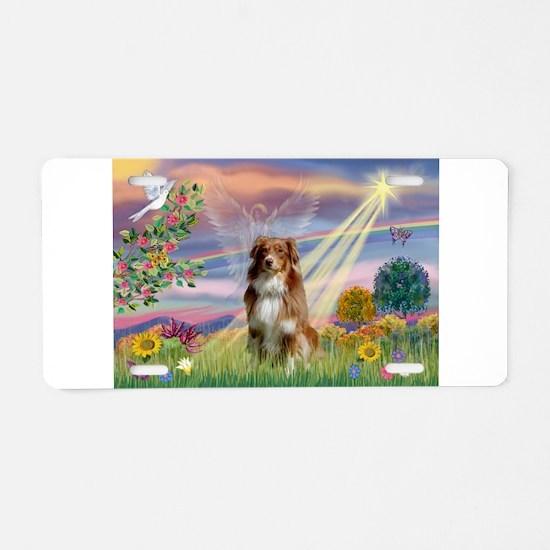 Cloud Angel / Aussie (rm) Aluminum License Plate