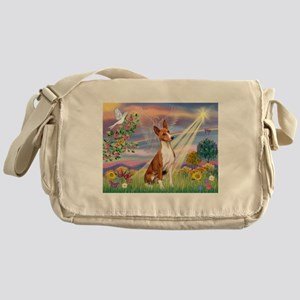 Cloud Angel & Basenji Messenger Bag