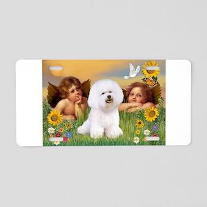 Angels & Bichon Frise Aluminum License Plate
