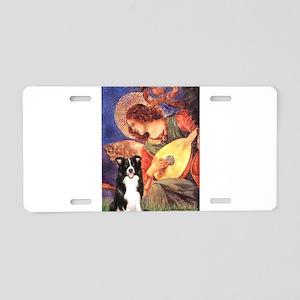 Angel (#3) / Border Collie Aluminum License Plate