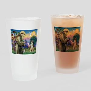 Saint Francis & Boxer Drinking Glass