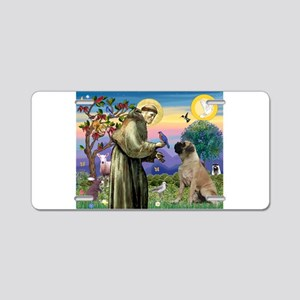 Saint Francis / Bullmastiff Aluminum License Plate