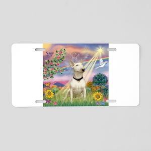 Cloud Angel /Bull Terrier Aluminum License Plate