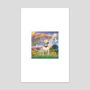 Cloud Angel /Bull Terrier Mini Poster Print