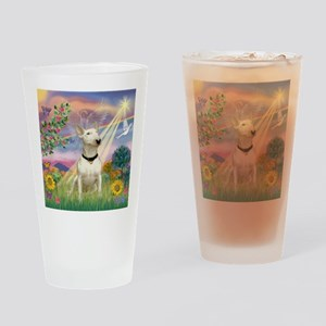 Cloud Angel /Bull Terrier Drinking Glass