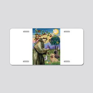 St Francis / Cairn Terrier Aluminum License Plate