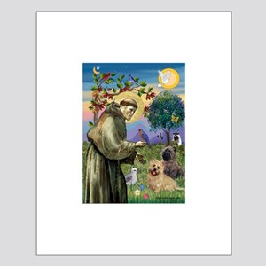 St Francis / Cairn Terrier Small Poster