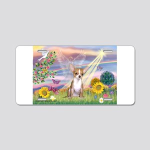Cloud Angel / Chihuahua (f) Aluminum License Plate