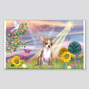 Cloud Angel / Chihuahua (f) Sticker (Rectangle)