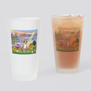 Cloud Angel / Chihuahua (f) Drinking Glass