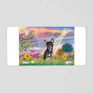 Cloud Angel / Chihuahua (bl) Aluminum License Plat
