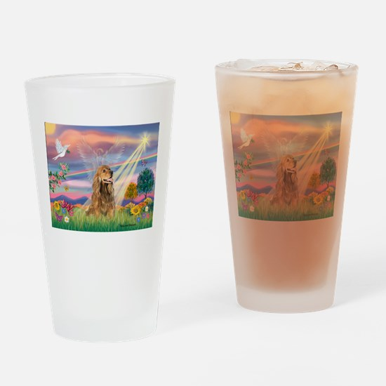 Cloud Angel / Cocker (brn) Drinking Glass