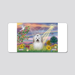 Cloud Angel & Coton Aluminum License Plate