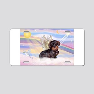 Wire Haired Doxie Aluminum License Plate