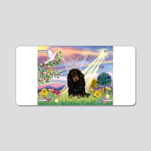 Cloud Angel /Dachshund Aluminum License Plate