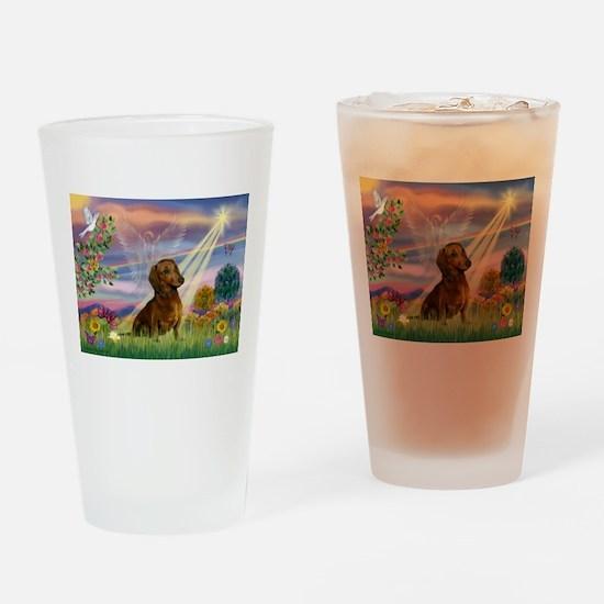 Cloud Angel /Dachshund (brn s Drinking Glass