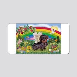 Rainbow Bright / Dachshund (w Aluminum License Pla