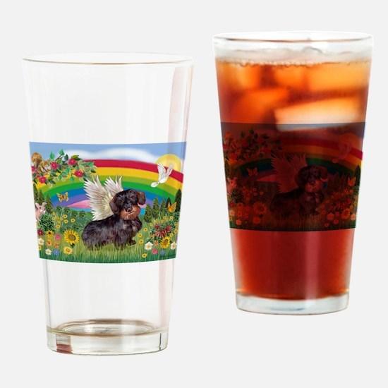 Rainbow Bright / Dachshund (w Drinking Glass