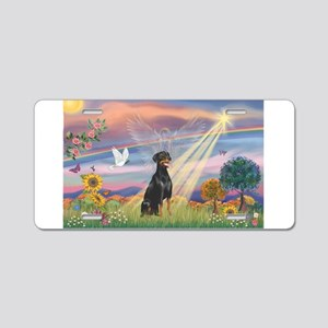 Cloud Angel-Dobie 1N Aluminum License Plate