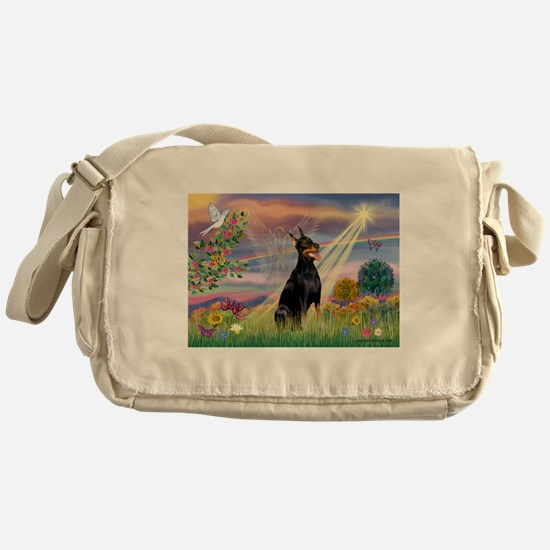 Cloud Angel & Dobie Messenger Bag