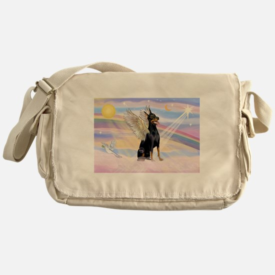 Dobie Angel in Clouds Messenger Bag