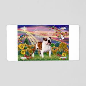 Autumn Angel /Bulldog Aluminum License Plate