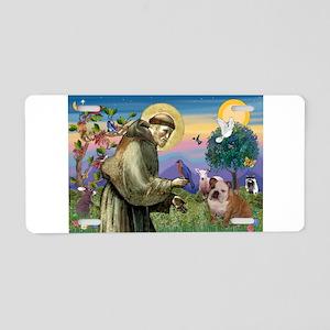 St Francis / Bulldog Aluminum License Plate