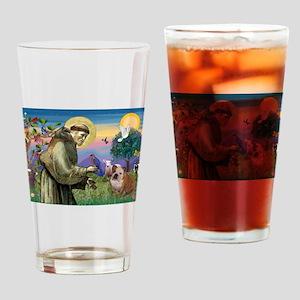 St Francis / Bulldog Drinking Glass