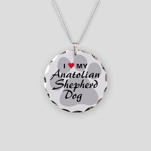 Anatolian Shepherd Dog Necklace Circle Charm