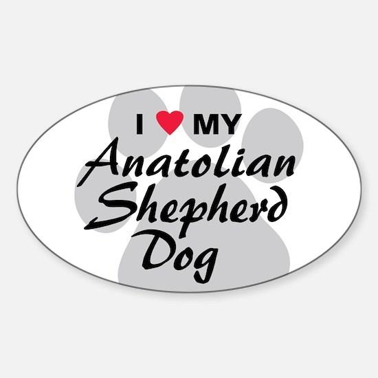 Anatolian Shepherd Dog Sticker (Oval)