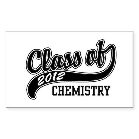 Class of 2012 Chemistry Sticker (Rectangle)