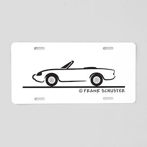 Alfa Romeo Spider Aluminum License Plate