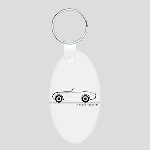 1959 Austin Healey Sprite Aluminum Oval Keychain