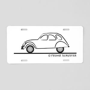 Citroen 2CV Aluminum License Plate