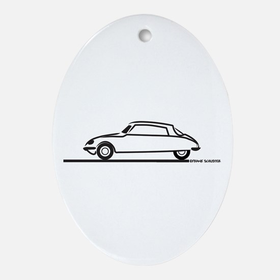 Citroen DS 21 Ornament (Oval)