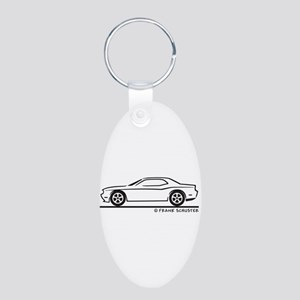 New Dodge Challenger Aluminum Oval Keychain