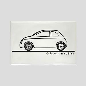 New Fiat 500 Cinquecento Rectangle Magnet