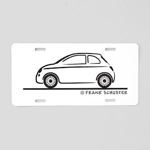 New Fiat 500 Cinquecento Aluminum License Plate