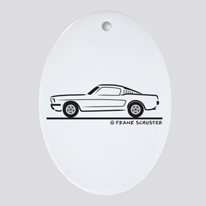 65 Mustang Fastback Ornament (Oval)