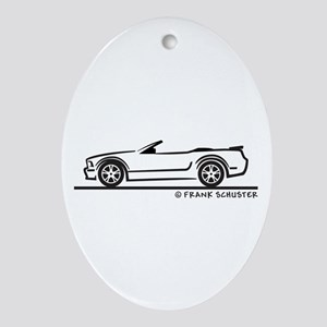 New Ford GT Mustang Convertib Ornament (Oval)