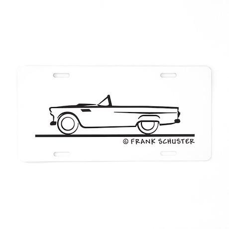 1956 thunderbird convertible aluminum license plat by frankschuster