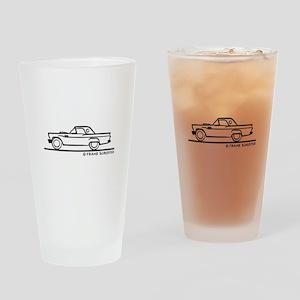 1957 Thunderbird Hardtop Drinking Glass