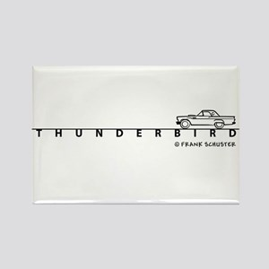 1957 Ford Thunderbird w Type Rectangle Magnet
